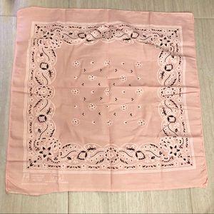 Vintage Pink Western Bandana Hanky Colorfast Scarf